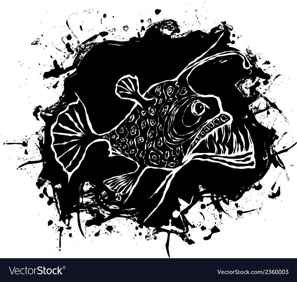 Angler fish design vector | Price: 1 Credit (USD $1)