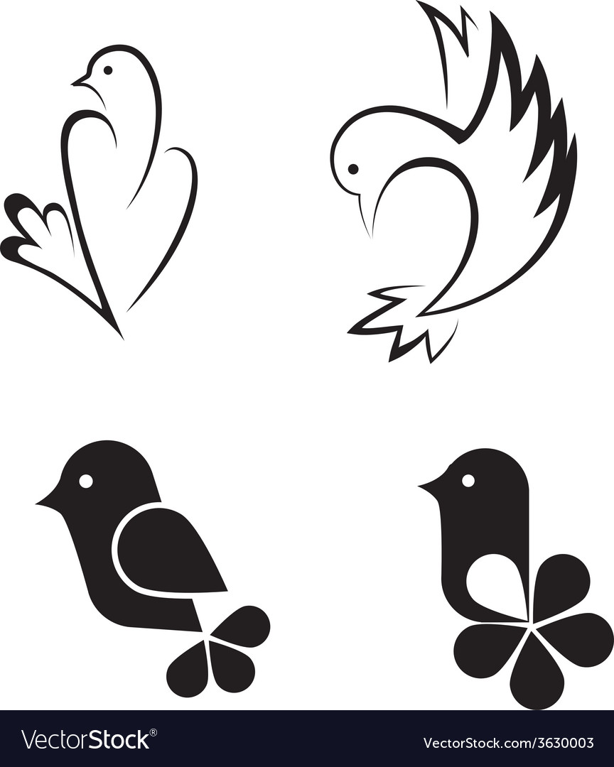 Bird abstract logo design template vector | Price: 1 Credit (USD $1)