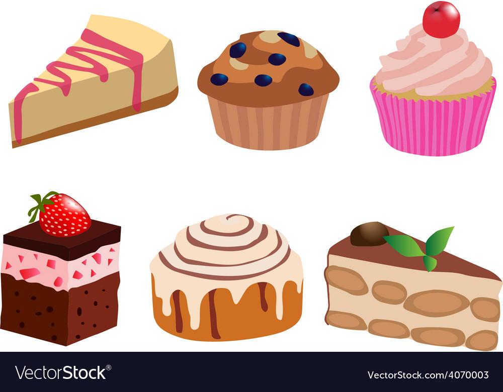 Cakes vector | Price: 1 Credit (USD $1)