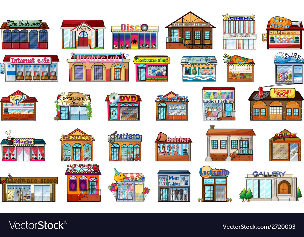 Different buildings vector | Price: 1 Credit (USD $1)