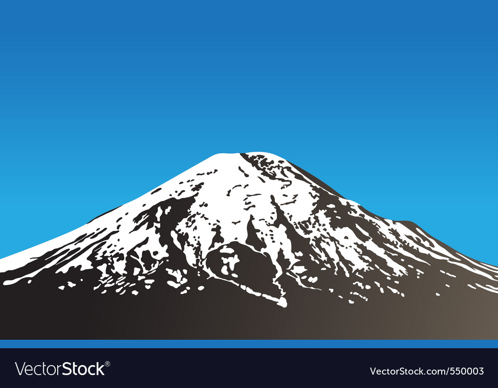 Dormant volcano vector | Price: 1 Credit (USD $1)