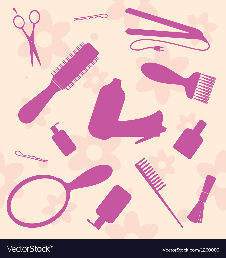 Hair dressers tools vector