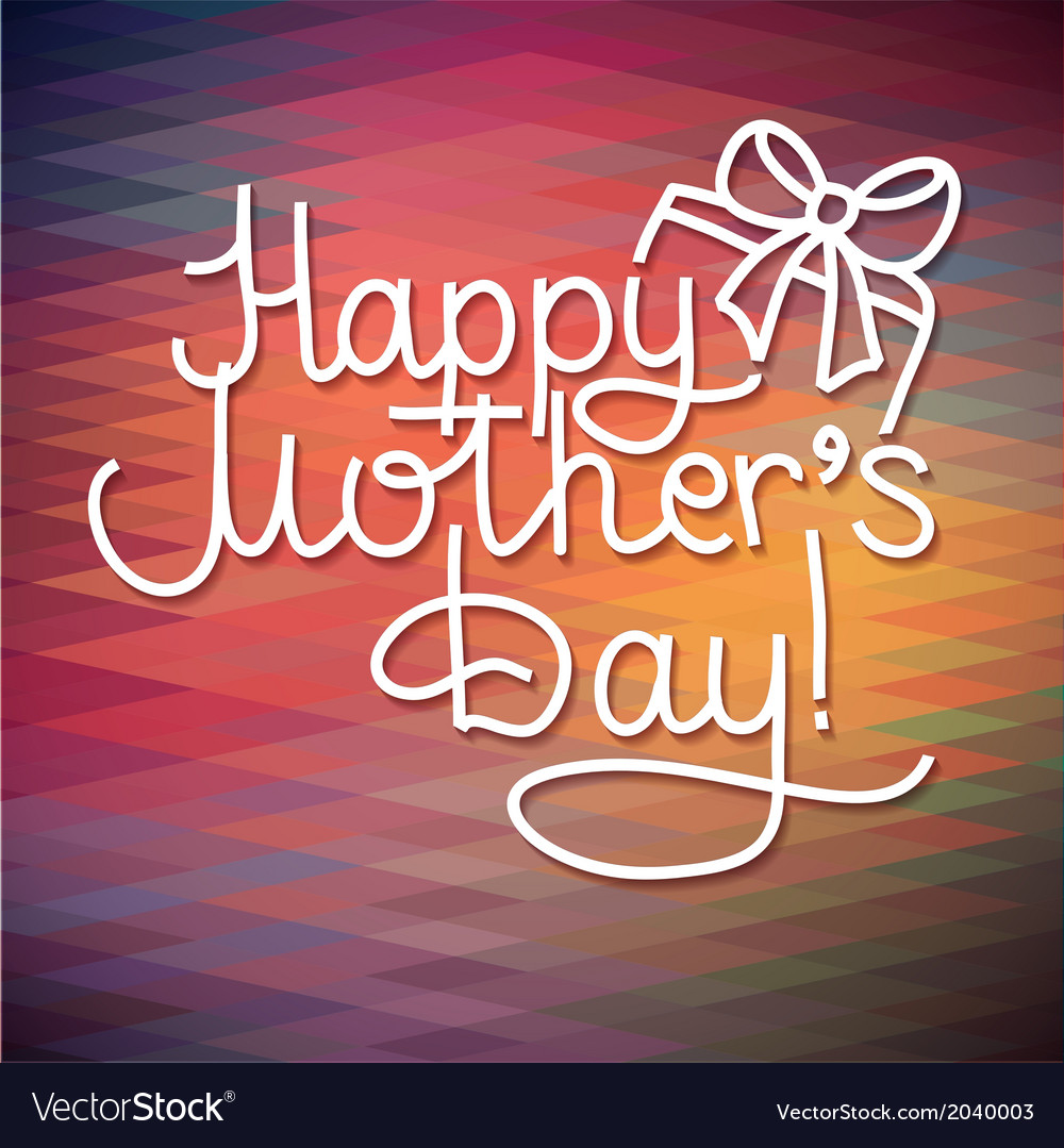 Happy mothers day card design lettering vector | Price: 1 Credit (USD $1)