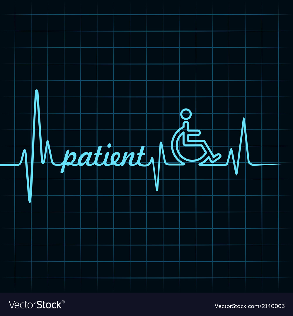 Heartbeat make patient word and symbol stock vector | Price: 1 Credit (USD $1)