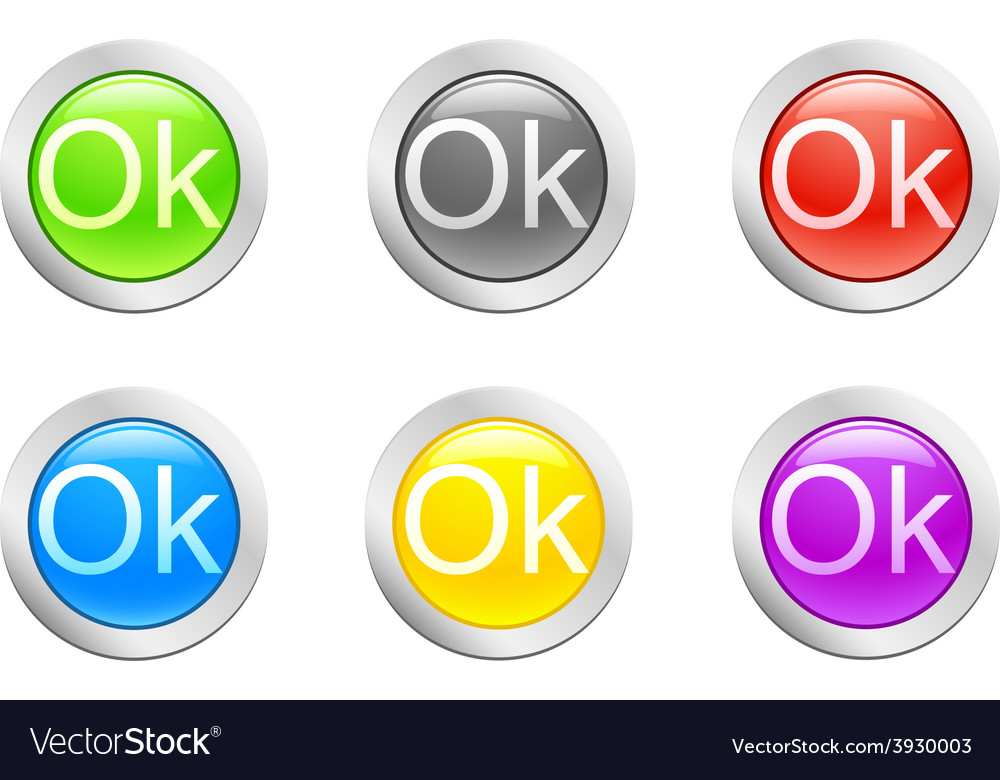 Ok button vector | Price: 1 Credit (USD $1)