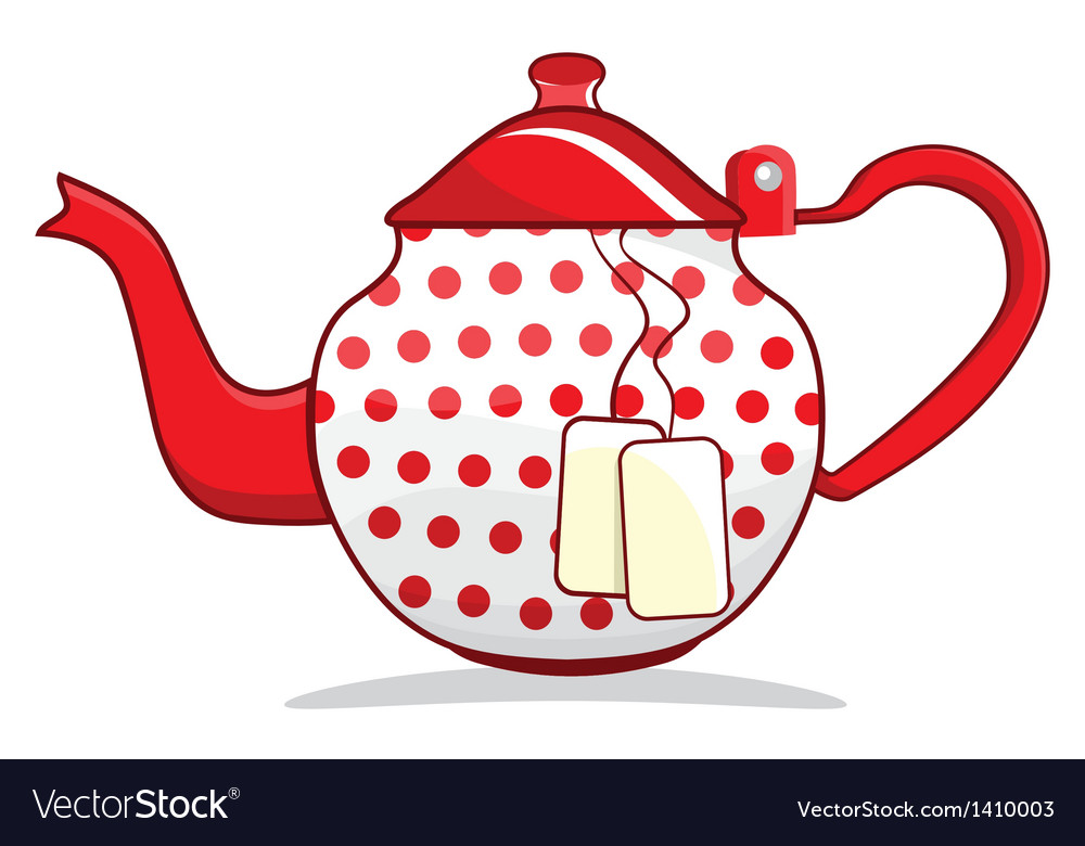 Retro red teapot vector | Price: 1 Credit (USD $1)