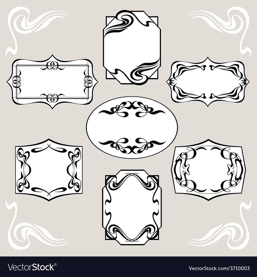 Set of art deco banners vector | Price: 1 Credit (USD $1)
