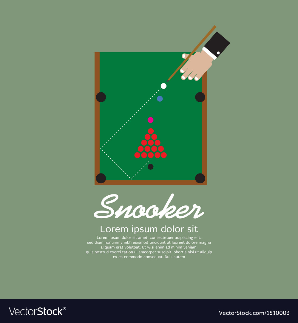 Snooker playing eps10 vector | Price: 1 Credit (USD $1)