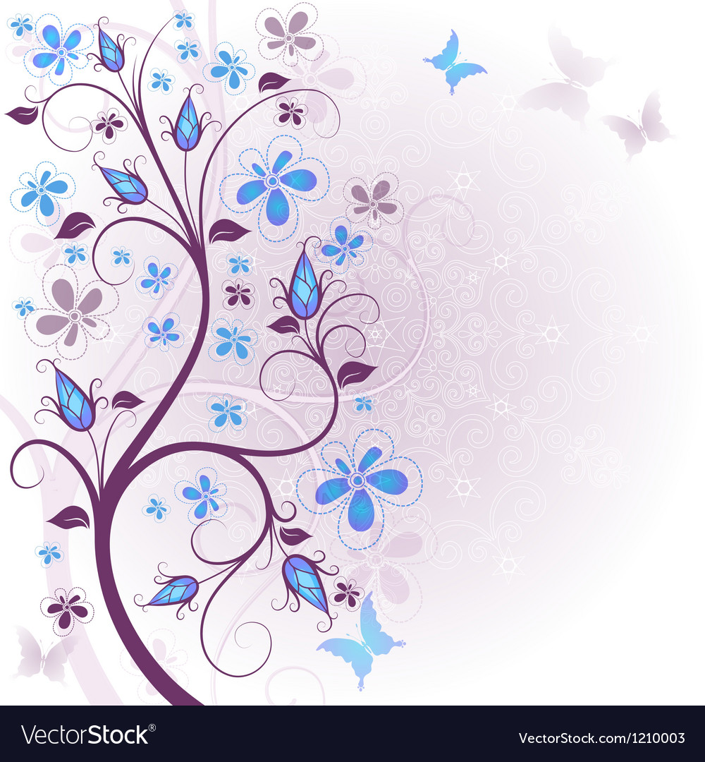 Spring floral easter frame vector | Price: 1 Credit (USD $1)