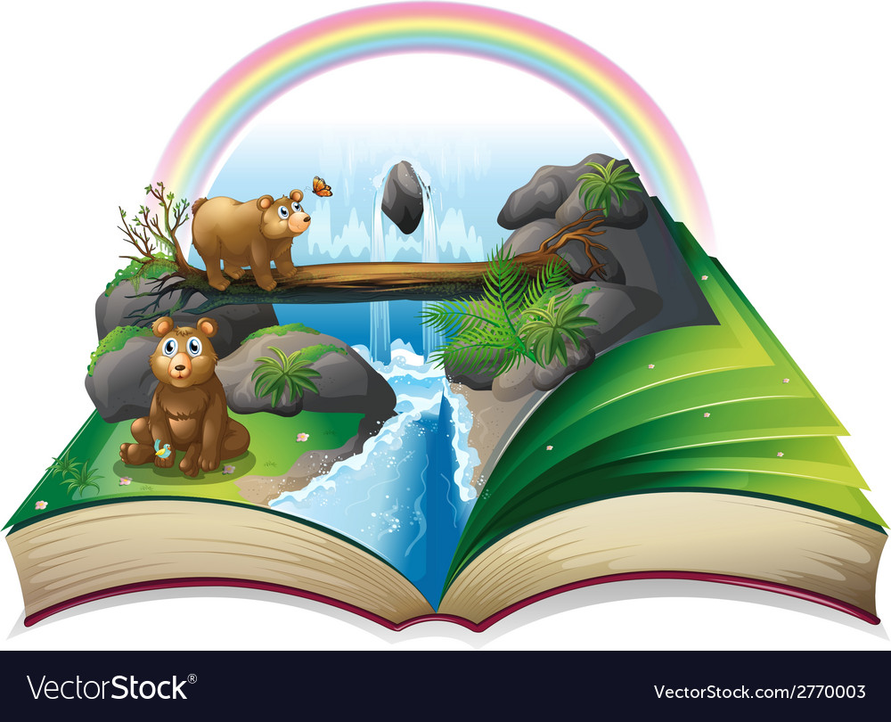 Waterfall book vector | Price: 1 Credit (USD $1)