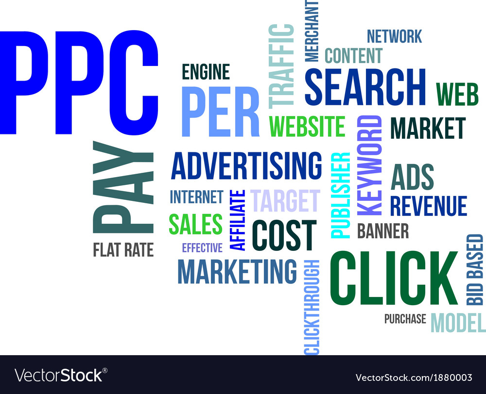 Word cloud ppc vector | Price: 1 Credit (USD $1)