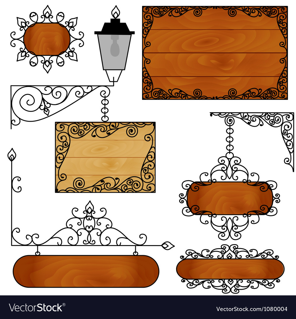 A set of forged boards for ads vector | Price: 1 Credit (USD $1)
