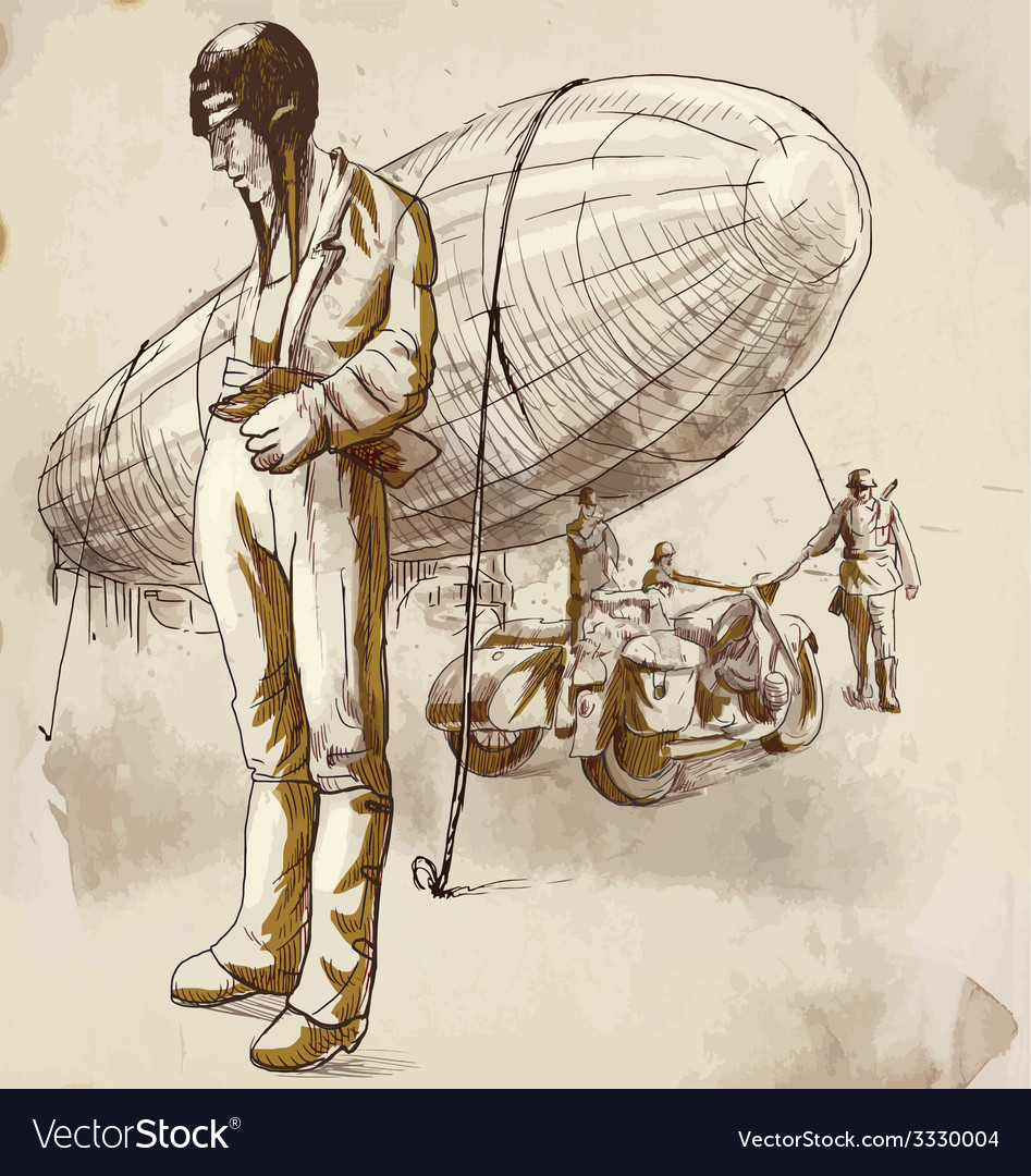 Airship pilot vector | Price: 3 Credit (USD $3)