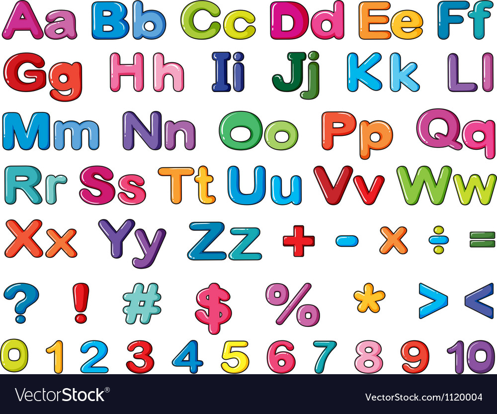 Alphabets and numbers vector | Price: 1 Credit (USD $1)