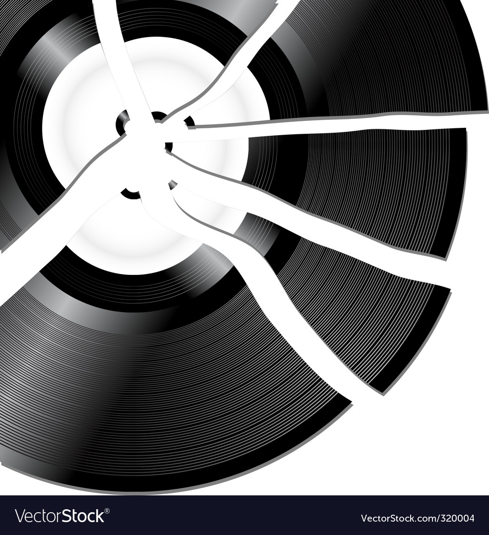 Broken record vector | Price: 1 Credit (USD $1)