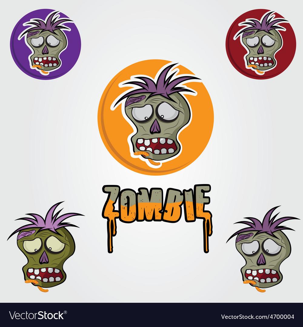 Cartoon zombie face design template vector | Price: 1 Credit (USD $1)