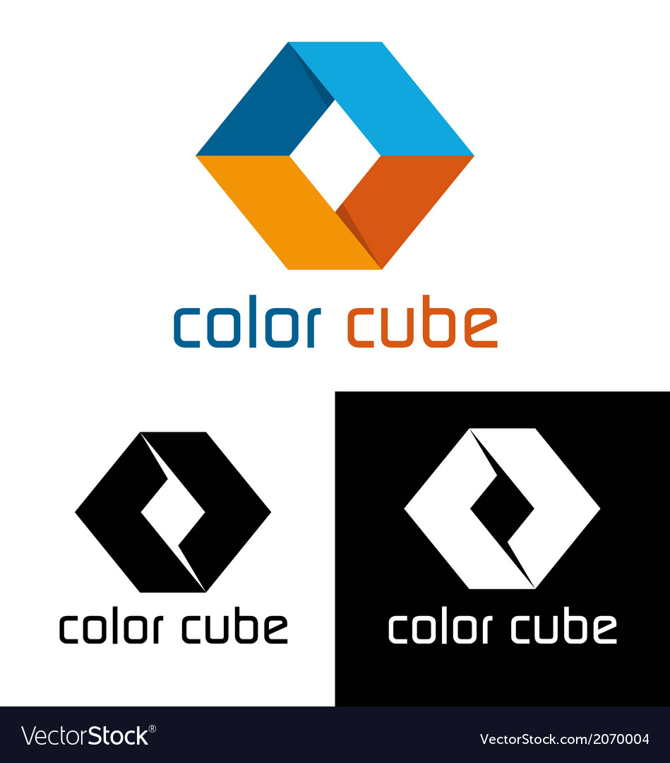 Color cube logo template vector | Price: 1 Credit (USD $1)