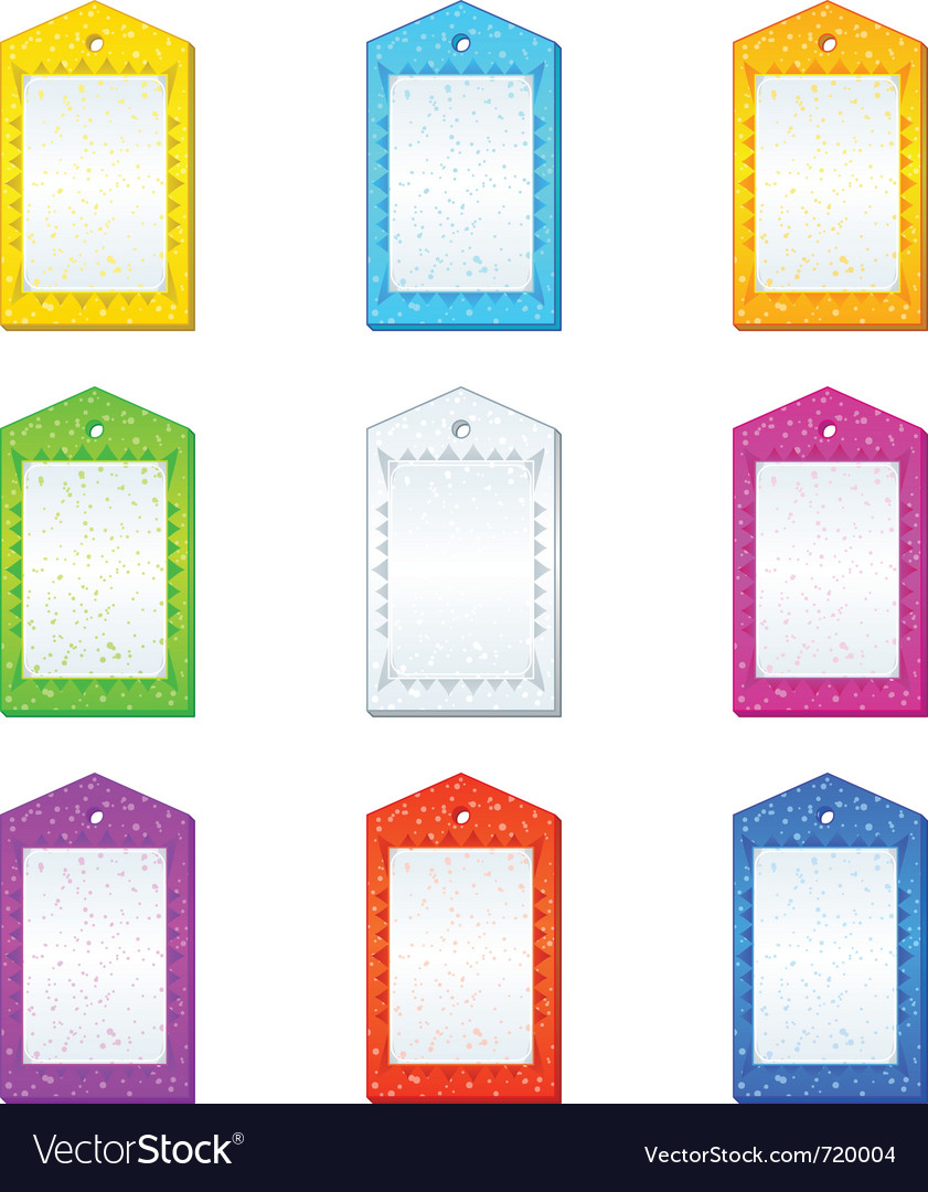 Color tags set vector | Price: 1 Credit (USD $1)