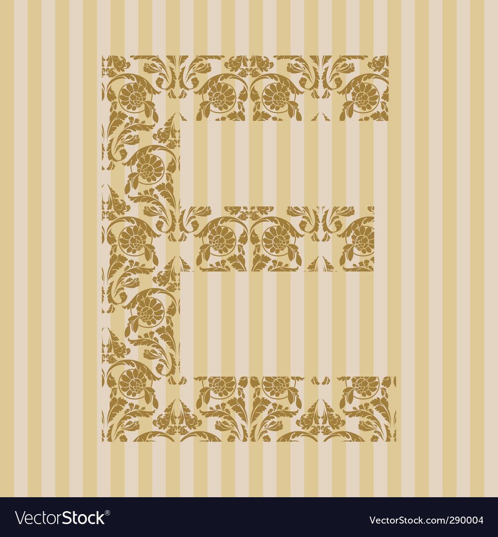 Floral font letter vector   Price: 1 Credit (USD $1)