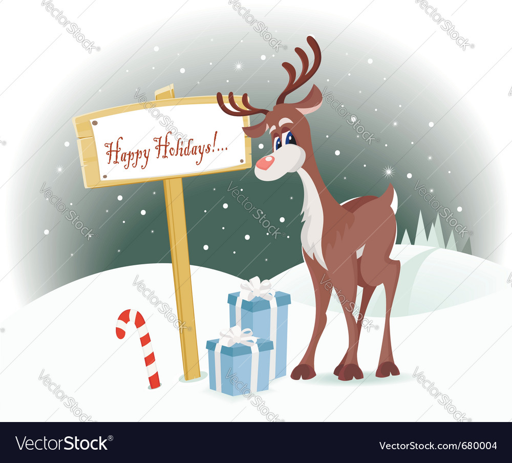 Happy holidays vector | Price:  Credit (USD $)