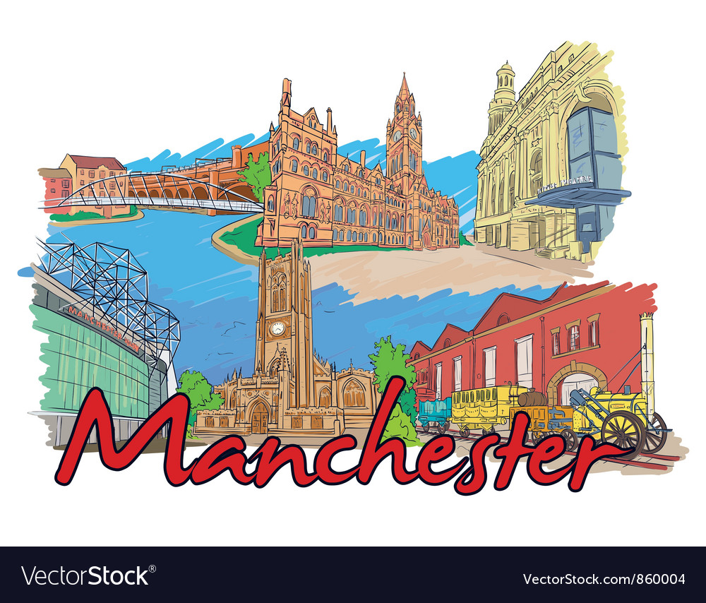 Manchester doodles vector | Price: 3 Credit (USD $3)