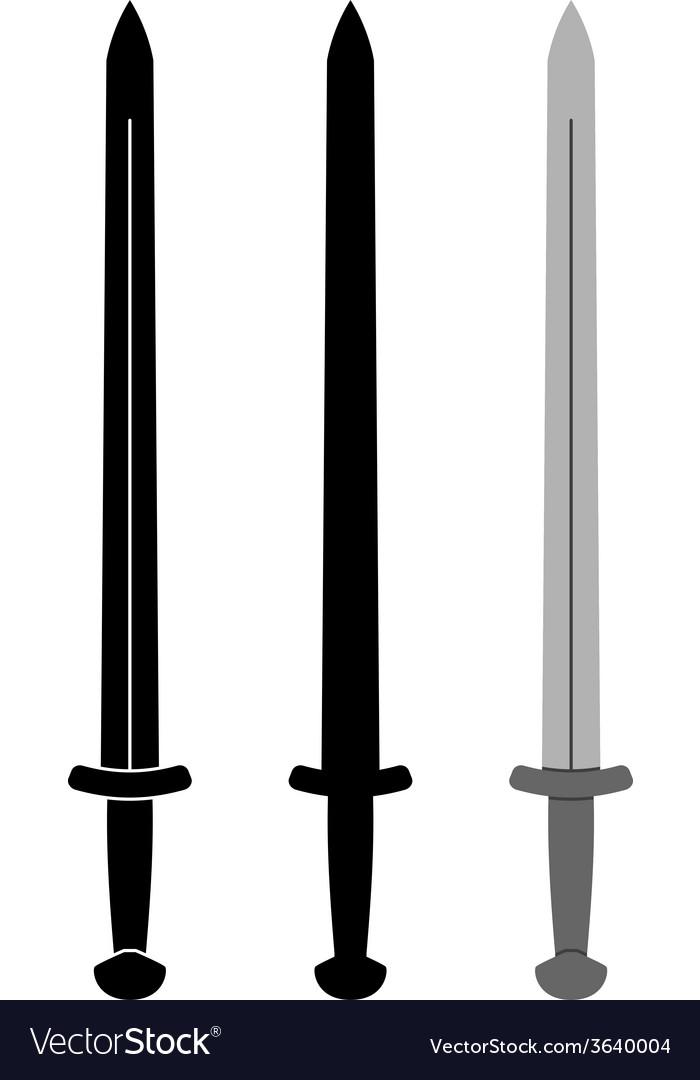 Medieval sword vector | Price: 1 Credit (USD $1)