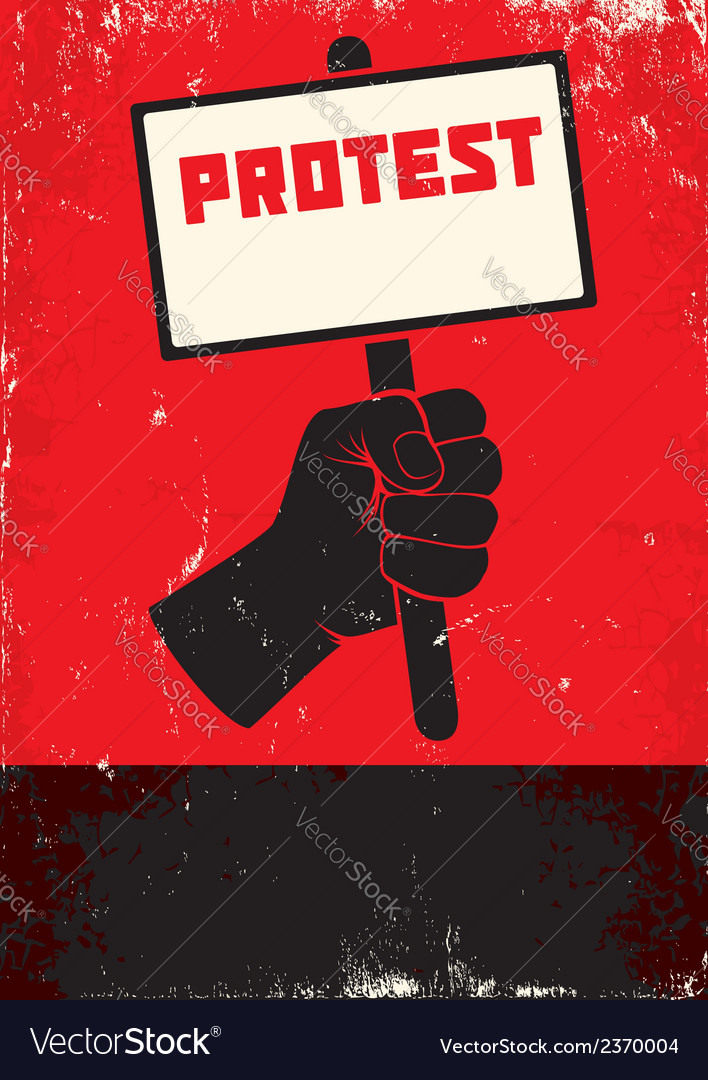 Protest vector | Price: 1 Credit (USD $1)