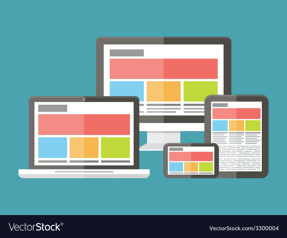 Responsive web design application development and vector | Price: 1 Credit (USD $1)