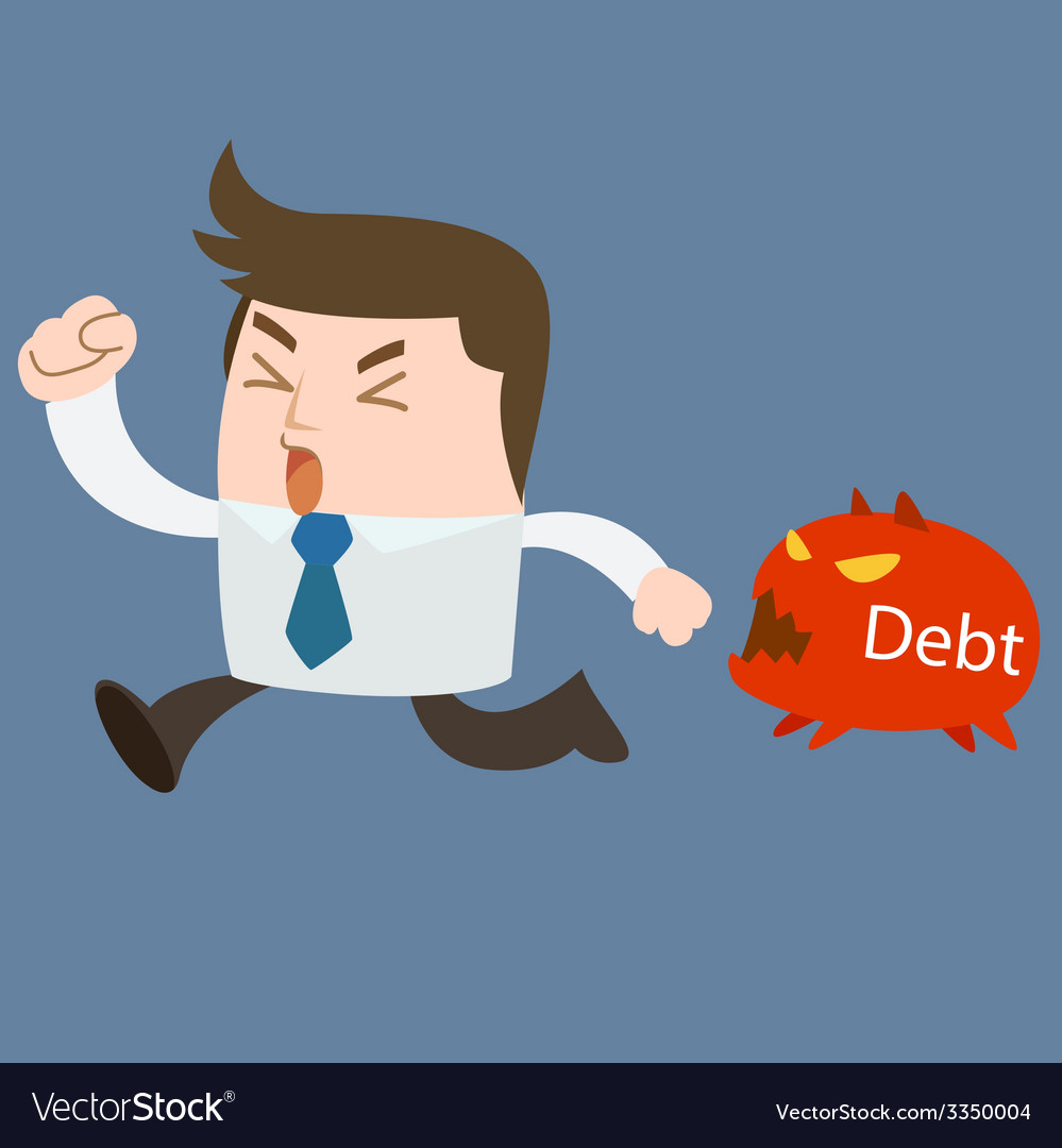 Run away debt vector | Price: 1 Credit (USD $1)