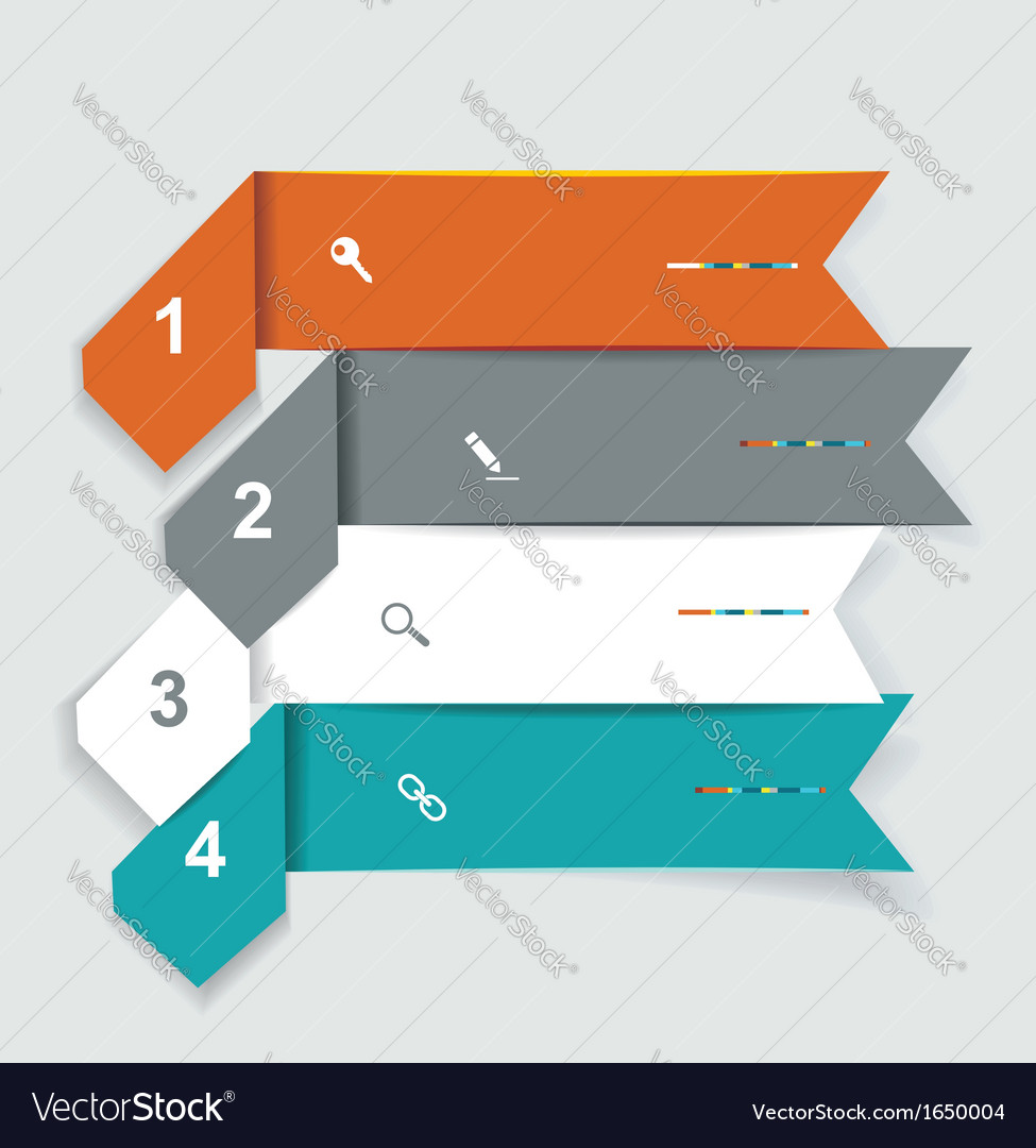 Step lines set web banners origami vector | Price: 1 Credit (USD $1)