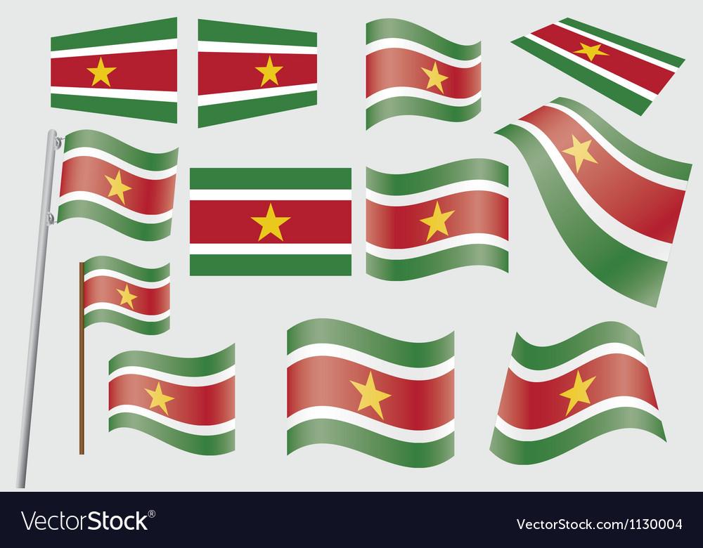 Suriname flag vector | Price: 1 Credit (USD $1)