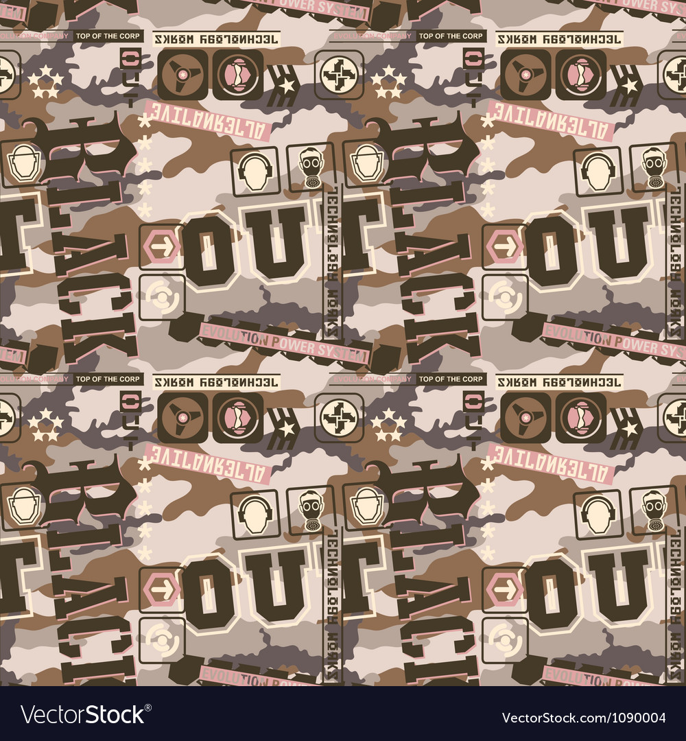 Urban camouflage seamless pattern vector   Price: 1 Credit (USD $1)