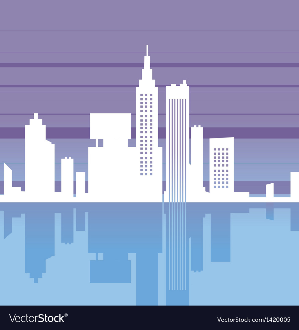 Abstract cityscape silhouette vector | Price: 1 Credit (USD $1)