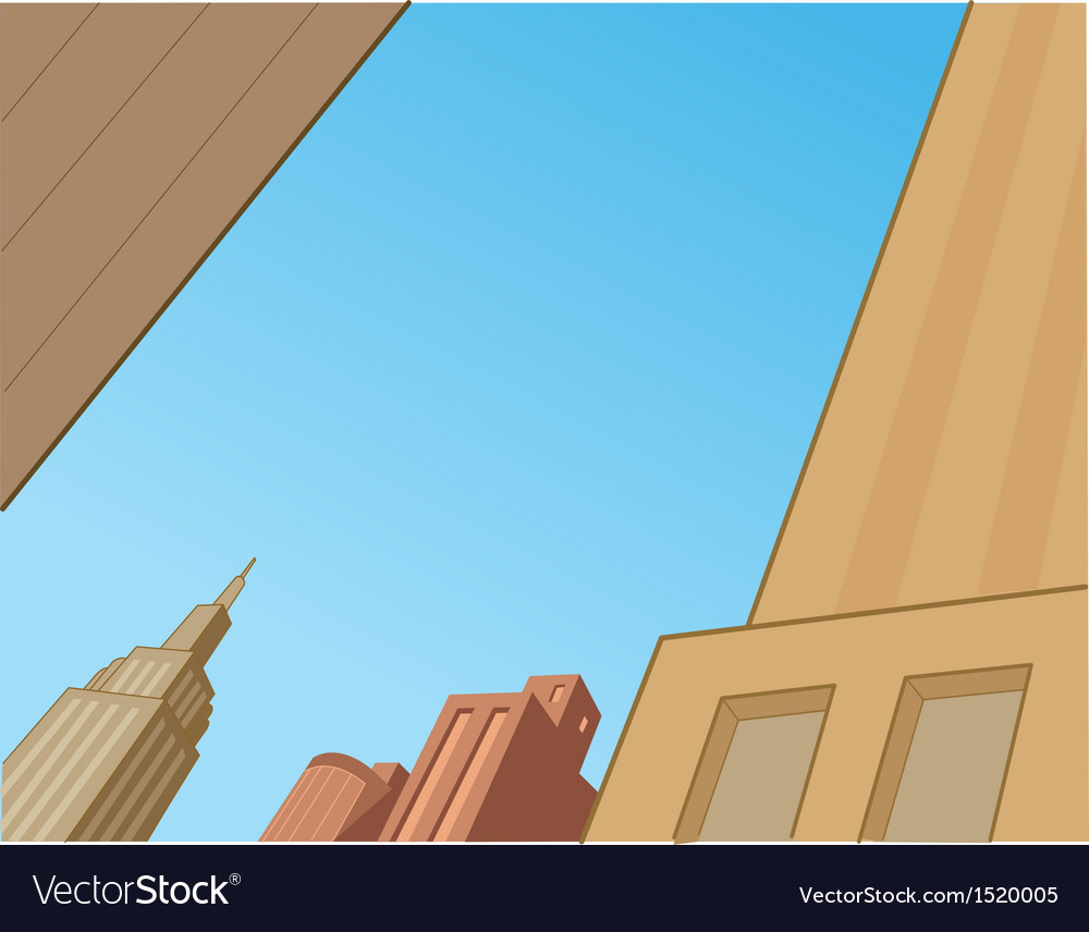 Comics city skyline scene vector | Price: 1 Credit (USD $1)