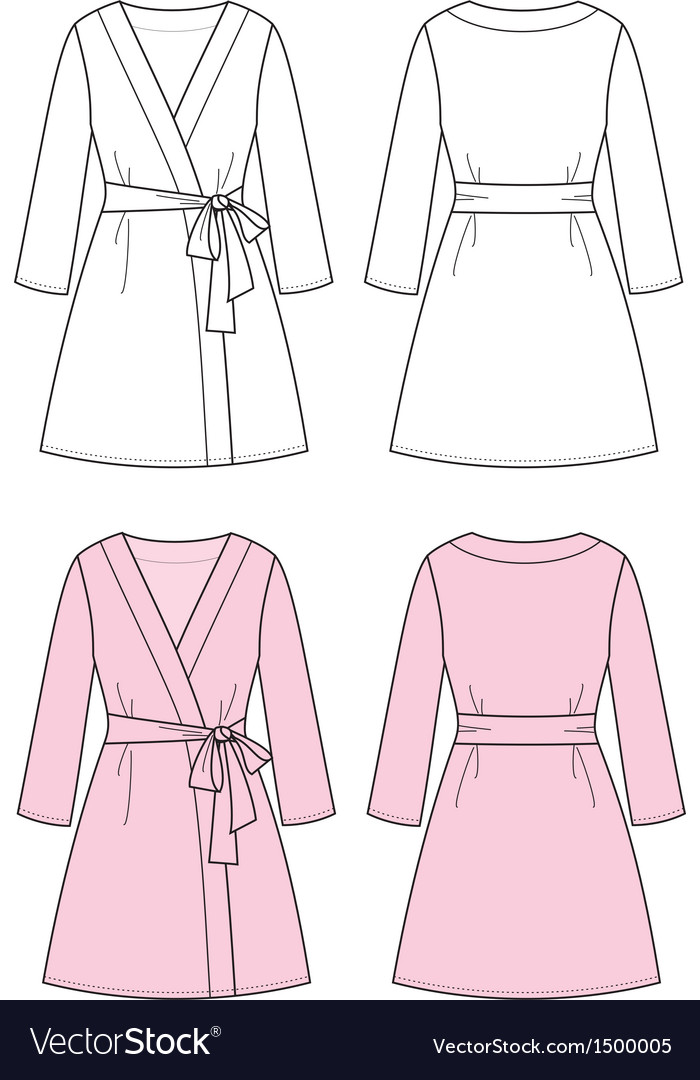 Dressing gown vector | Price: 1 Credit (USD $1)