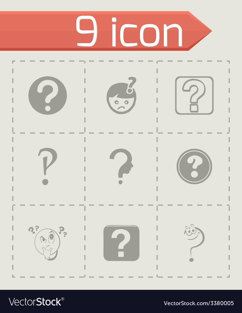 Faq icons set vector | Price: 1 Credit (USD $1)