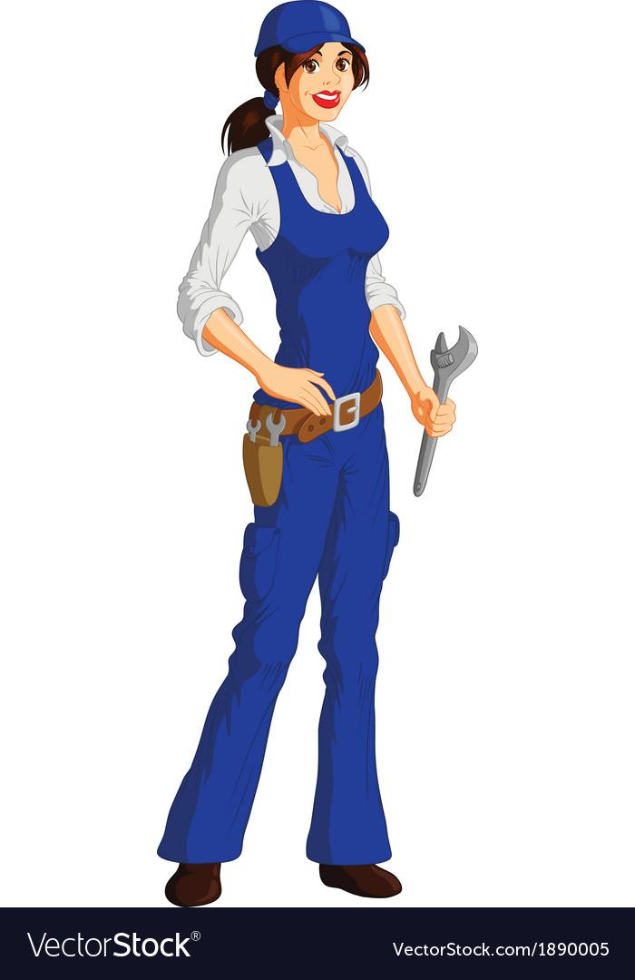 Female mechanic vector | Price: 3 Credit (USD $3)