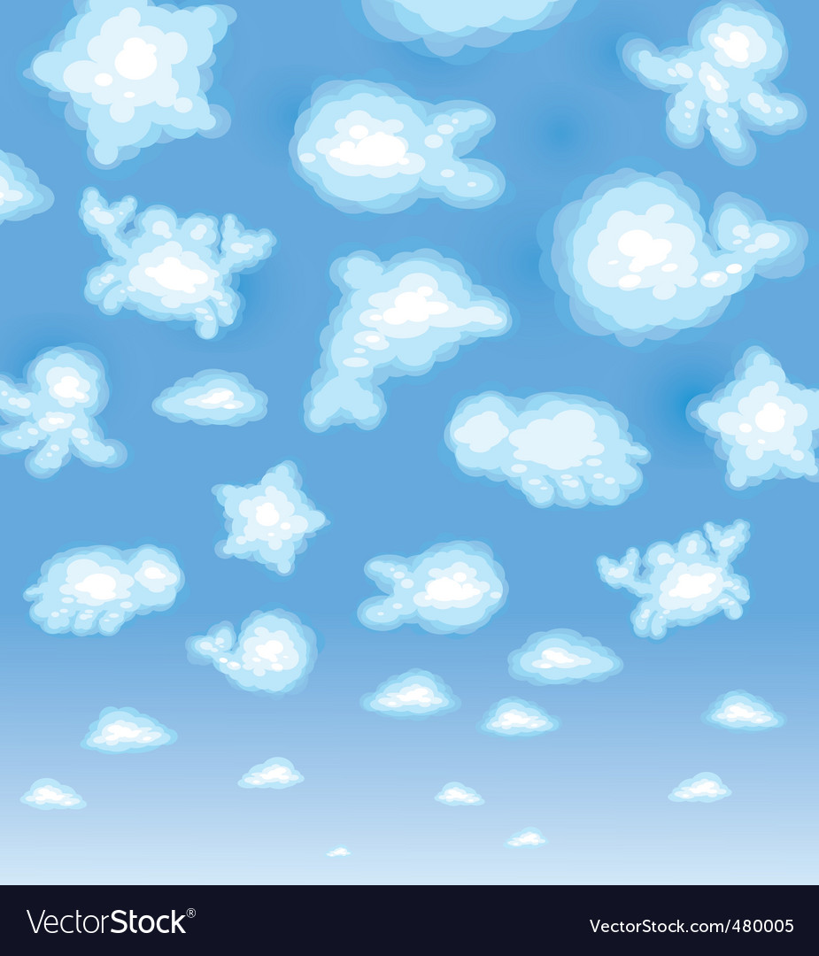 Funny clouds vector | Price: 1 Credit (USD $1)