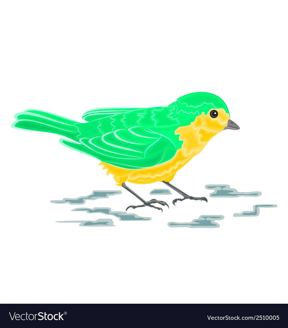 Green bird vector | Price: 1 Credit (USD $1)