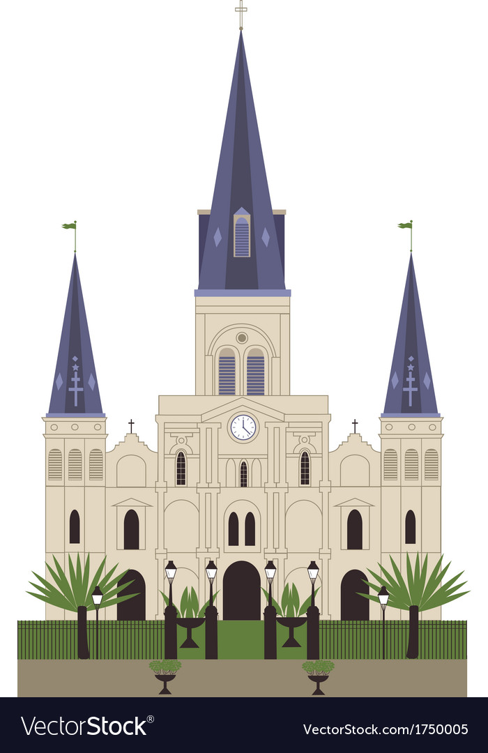 Louis cathedral vector | Price: 1 Credit (USD $1)