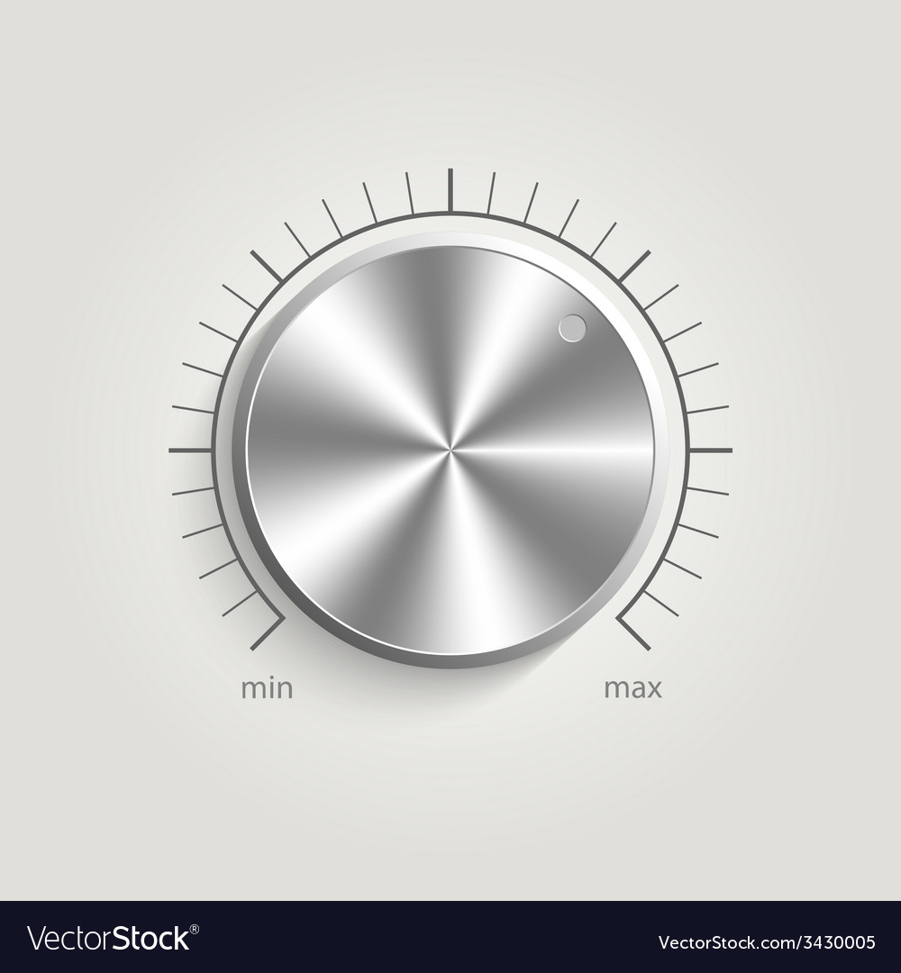 Metal volume music control vector | Price: 1 Credit (USD $1)
