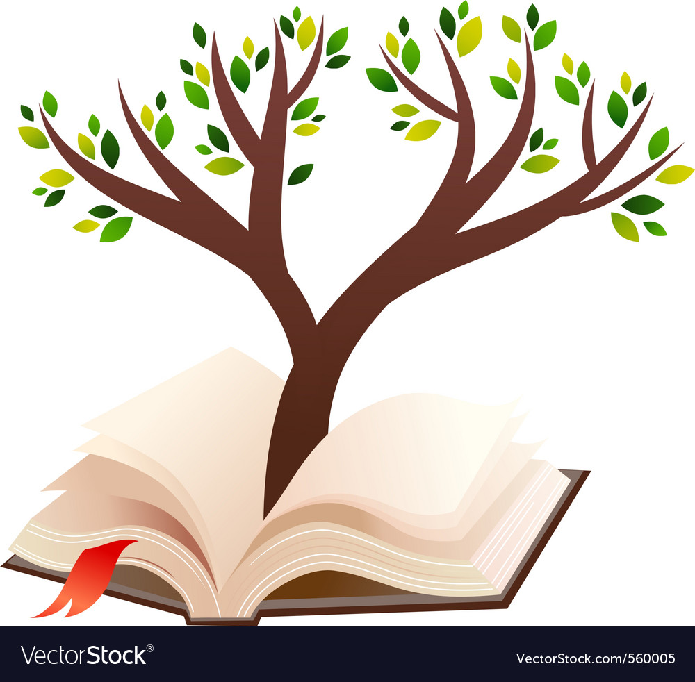 Open book tree vector | Price: 3 Credit (USD $3)