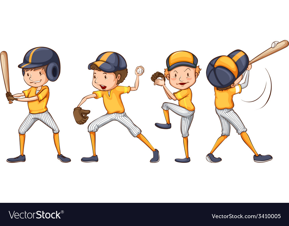 Players of the yellow team vector | Price: 3 Credit (USD $3)