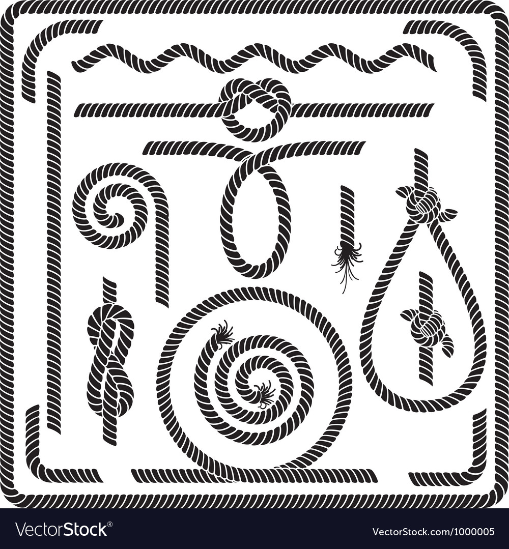 Rope design elements vector | Price: 1 Credit (USD $1)