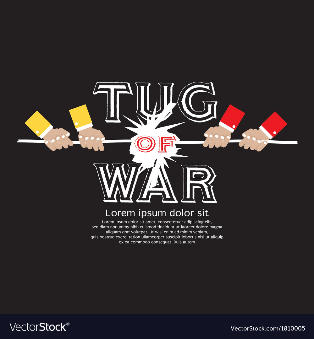 Tug of war eps10 vector | Price: 1 Credit (USD $1)