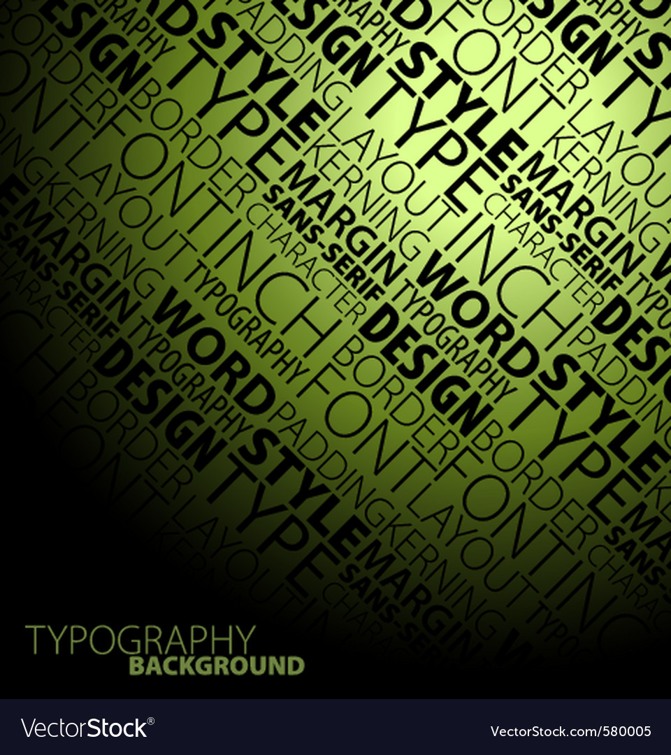 Typography background vector | Price: 1 Credit (USD $1)
