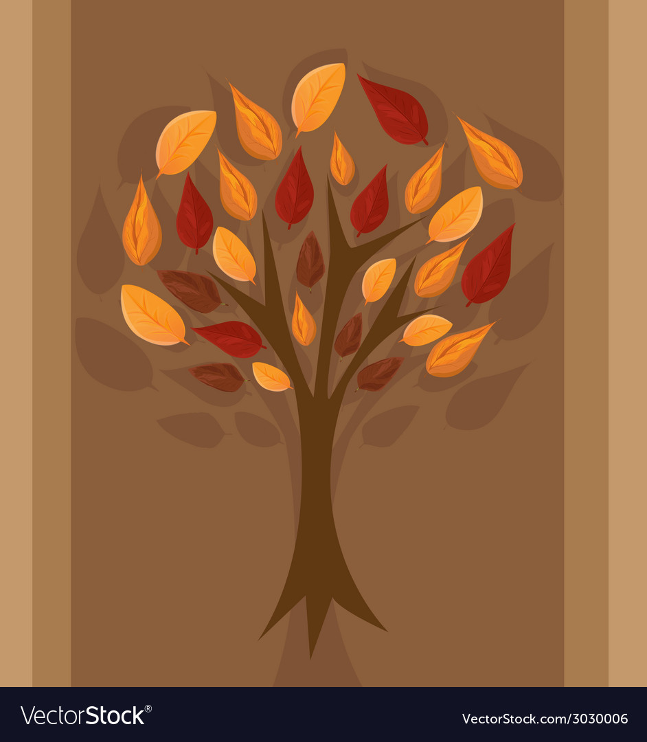 Autumn tree for your design vector | Price: 1 Credit (USD $1)