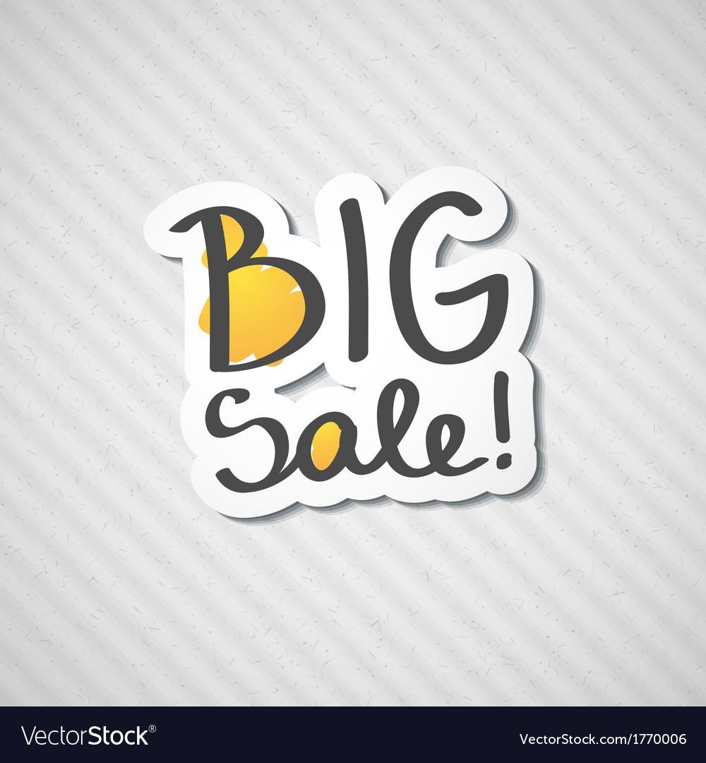 Big sale vector   Price: 1 Credit (USD $1)