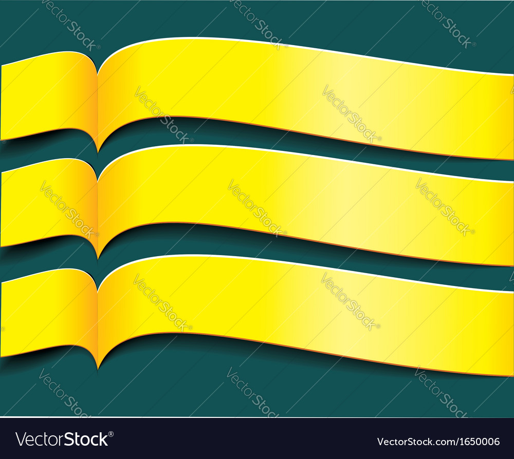Bright yellow banners or ribbons set vector | Price: 1 Credit (USD $1)