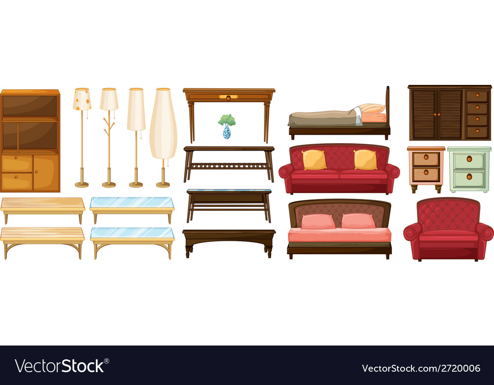 Different furnitures vector | Price: 1 Credit (USD $1)